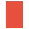 Icon lâmpada laranja design ideia